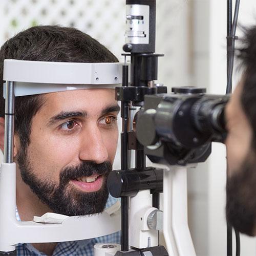Consulta oftalmológica de urgencias.